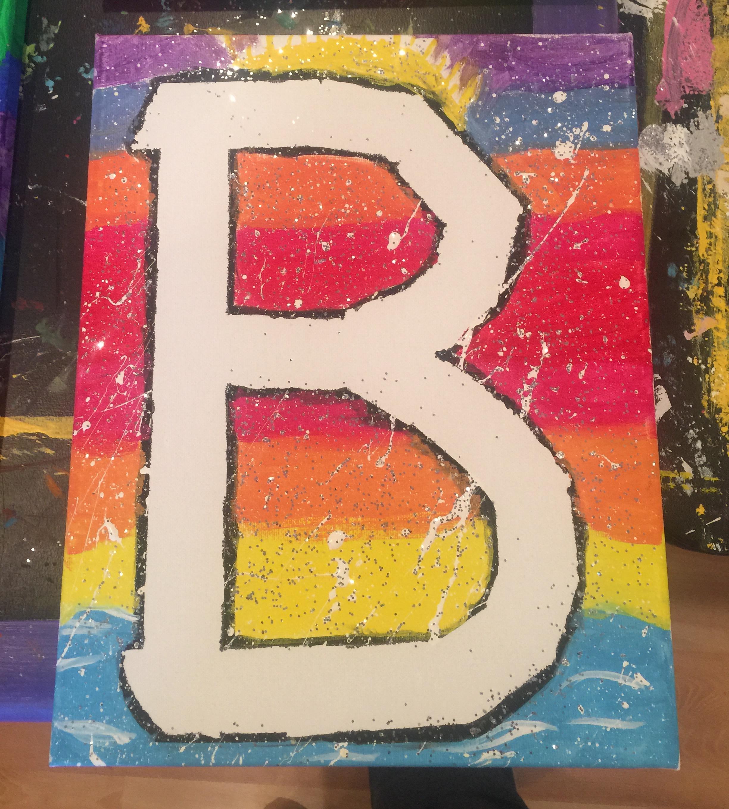 canvas letter artsy doodle craft studio