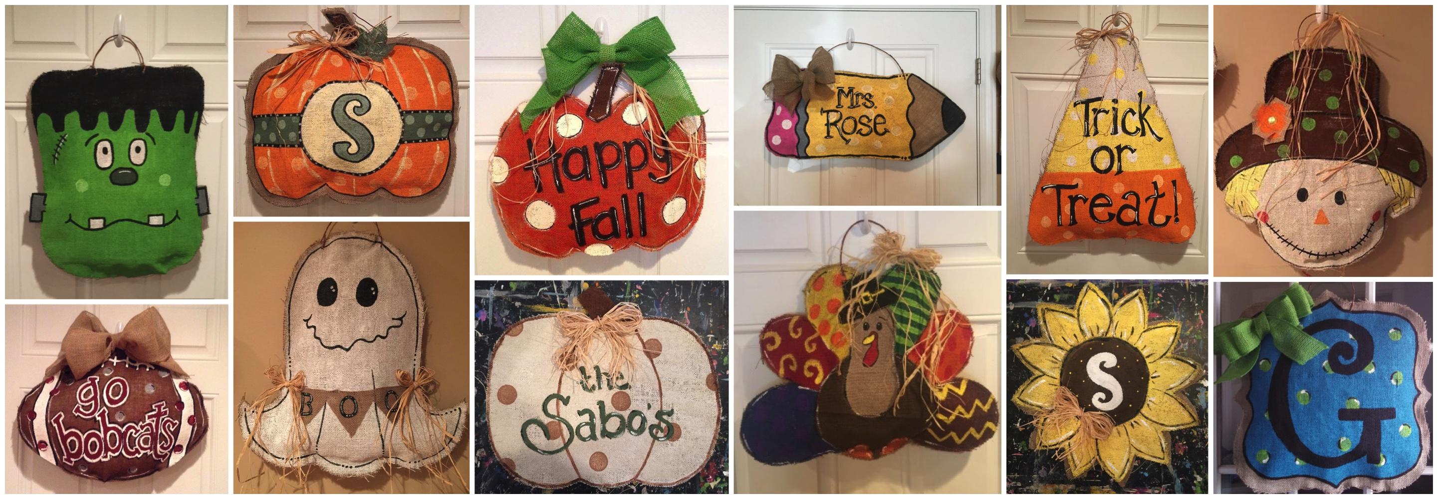 Fall Burlap Door Hangers2