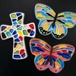 ceramic fusion cross & butterflies
